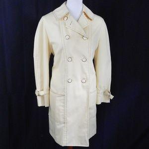 60s Vintage Rain Coat - GORGEOUS! - Pale Yellow